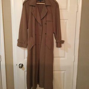 Gallery tan trench coat